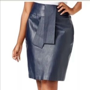 NWT Melissa McCarthy seven7 faux leather skirt